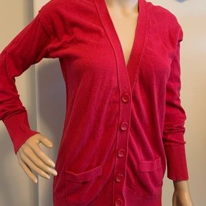 Mossimo Supple Co. Red Cardigan